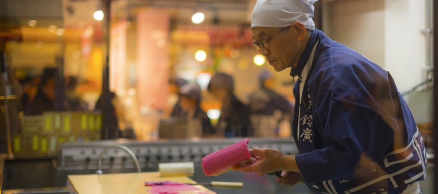 Making Odawara Kamaboko,