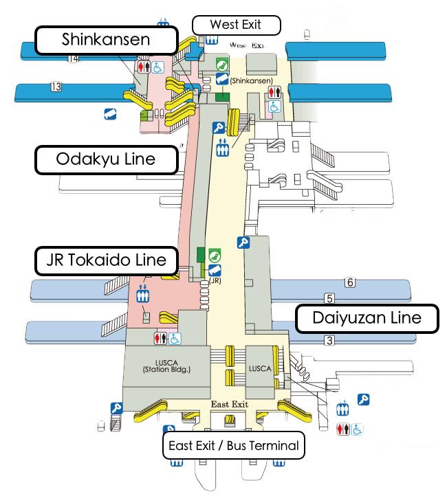 odawara station trains buses